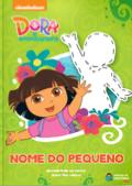 Capa do livro personalizado da Dora Aventureira descobrindo as cores