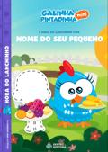 Capa do livro personalizado da Galinha Pintadinha em a Hora do Lanchinho