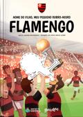 Capa do livro personalizado do Meu Pequeno Torcedor Rubro-Negro do Flamengo