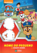 Capa do livro personalizado da Patrulha Canina em um Resgate Animal