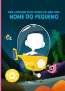 Capa do livro personalizado do Coleção Animais - Fundo do Mar
