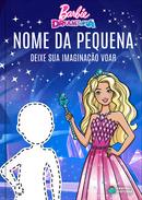 Capa do livro personalizado da Barbie - Deixe sua imaginação voar