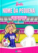 Capa do livro personalizado da Barbie - Você Pode Ser Atleta