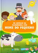 Capa do livro personalizado do Mundo Bita - Animais da Fazendinha