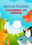Capa do livro personalizado do Colorindo Os Animais