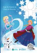 Capa do livro personalizado do Frozen Clima de diversão