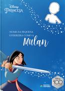 Capa do livro personalizado do Guerreira como a Mulan