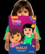 Um exemplar do livro personalizado Dora Aventureira - Descobrindo os Números