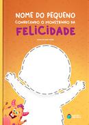Capa do livro personalizado do Monstrinho da Felicidade