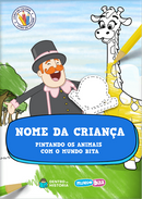 Capa do livro personalizado do Pintando os Animais