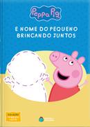 Capa do livro personalizado do Peppa Pig - Brincando Juntos