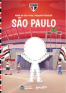 Capa do livro personalizado do São Paulo - Meu pequeno Tricolor