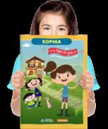 Um exemplar do livro personalizado O Show da Luna! - Brincando de Faz de Conta