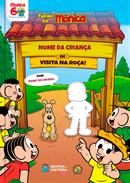Capa do livro personalizado do Turma da Mônica - Visita o Chico Bento